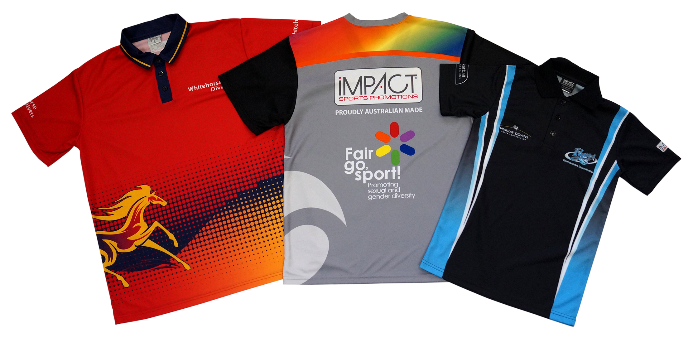 Polos tees impact sports for Design t shirts online australia
